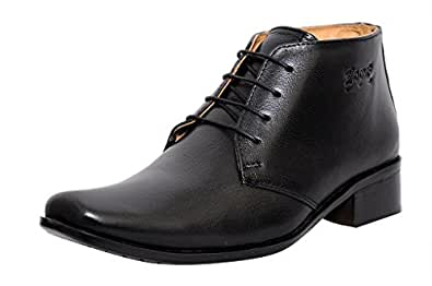 306164866de ... Zoom Shoes for Mens Boots Genuine Leather Shoes and Formal Shoes  G-71-Black Shoes