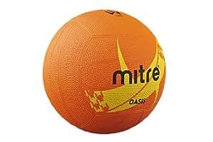 Mitre Oasis Training Netball - Orange/Yellow, 4