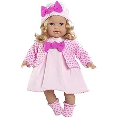 Arias 45 cm Elegance Elián muñeca con el pelo de oro y el mecanismo magnético de la risa en el sobre (rosa)
