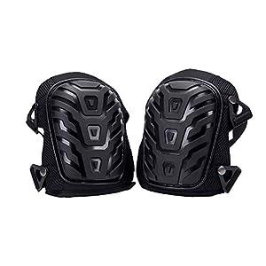 Hothuimin – Rodilleras profesionales con acolchado de espuma resistente y cómodo cojín de gel, correas dobles fuertes y clips ajustables de fácil fijación