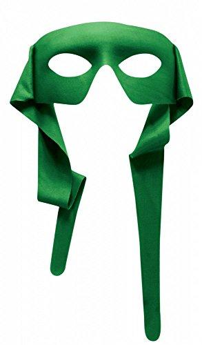 Accessoires für Superhero Herren Kostüm, Maske Grün (Robin Verschiedenen Kostümen)