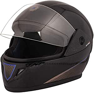 STARVIN RHHYN@X FULL FACE HELMET || BLACK COLOR || Medium Size || ISI APPROVED || WITH HYDROGRAPHICS || Unbreakable PC Visor with Double Layer Silicon Hardcore Coating || Scratch Resistant || MODEL- JETTY