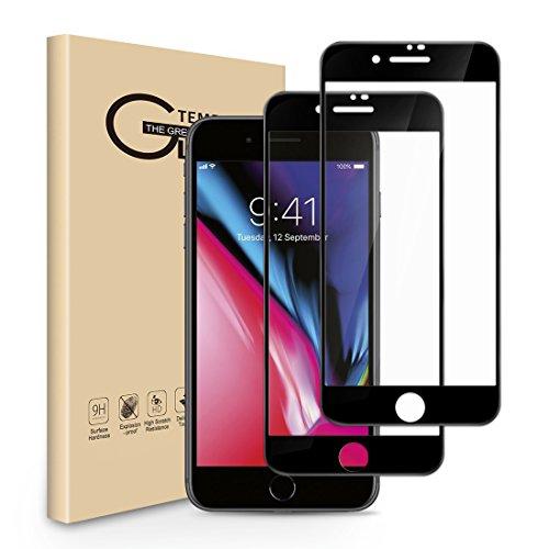 Panzerglas Schutzfolie für iPhone 7 Plus iPhone 8 Plus,[2 Stück]Seinal 3D Full Screen Glas,9H Gehärtetes Panzerglasfolie,Displayschutzfolie Kratzfest 3D Touch Hartglas,Ultra dünnTempered Glas(Schwarz) -