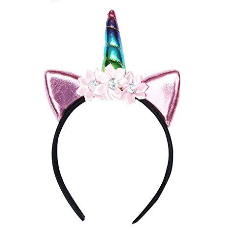Blue Vessel 1 PC Glitter Metallic Einhorn Stirnband Für Mädchen Und Kinder Party Haar Zubehör (2#)