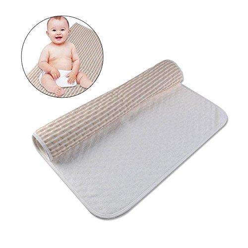Pawaca Baby Wasserdichte Bett Pad, Organische Baumwolle Saugfähigen Matratze Kleinkind Bettnässen Wickelauflage Pflege Inkontinenz Blatt für Baby Kleinkind Kinder Erwachsene (Wärme-matratze-auflage Weiche)