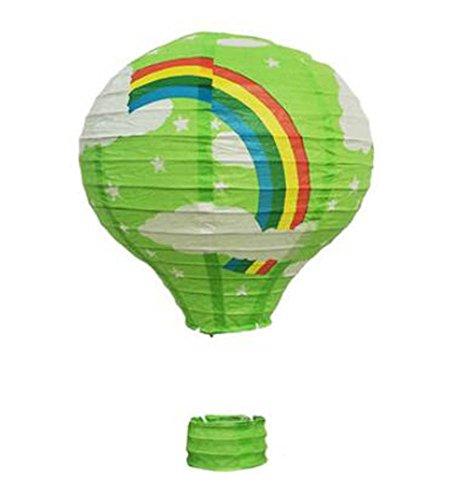 (Black Temptation Geburtstagsparty/Weihnachten/Ostern/Mall Dekoration hängen Papier Laterne Heißluftballon 30cm(Grün))