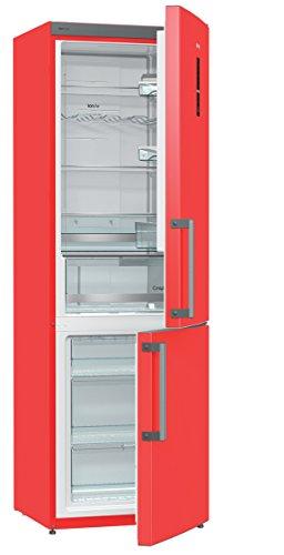Gorenje NRK6192MRD Autonome 222L 85L A++ Rouge - réfrigérateurs-congélateurs (Autonome, Bas-placé, A++, Electrique, Rouge, SN-T)