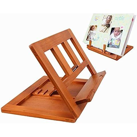 delmkin Madera Bambú atril para libro de cocina Soporte de lectura–34* 23,5* 2,8cm