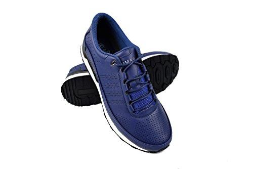 Zerimar Golf shoe fabriques dans la peau bovine sports et confortable Casual Running Couleur Bleu Taille 43
