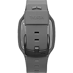 Vestal Helm Quartz Plastic and Polyurethane Sport Watch, Color:Grey (Model: HLMDP28)