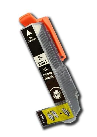 The Ink Squid 1x T2631Photo Noir Taille XL haute capacité compatible avec Epson non-OEM 'Ours Polaire' Cartouche d'encre pour Epson Expression Premium XP-510xp-520XP-600XP-605XP-610XP-615XP-620xp-625XP-700XP-710xp-720XP-800XP-810Xp-820Imprimantes