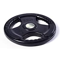 Skyland Unisex Adult EM-9264-10 Rubber Gym Weight Plate, 10 Kgs - Black, Medium