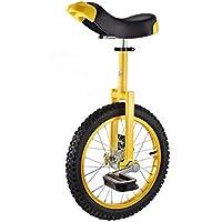 ZSH-dlc Amarillo Ciclismo Monociclo 16/18 Pulgadas Solo Redondo Adulto Adecuado para niños Altura Ajustable Balance Ciclismo Ejercicio (Tamaño : 16 Inch)