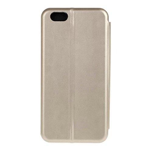 Cover per iPhone 7, Tpulling Custodia per iPhone 7 Case Cover Copertura della cassa del cuoio del raccoglitore di vibrazione magnetica per il iPhone 7 (Rose Gold) Gold