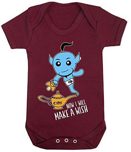 Kostüm 100 Coole - Colour Fashion Aladdin Jinn Cool Druck Baby Body Kostüm Hypoallergen 100% Cotton - Kastanienbraun, Newborn