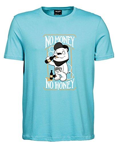 makato Herren T-Shirt Luxury Tee No Money No Honey Aqua
