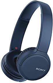 Sony WH-CH510 Wireless On-Ear Headphones with Voice-assitant and Easy Hands-Free Calling, Bluetooth, NFC - Blu