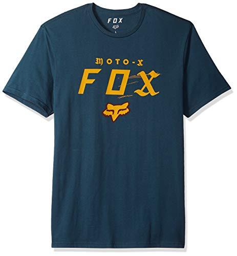Fox Herren Moto-X Short Sleeve Premium T-Shirt, Navy, Klein - Fox Navy T-shirt