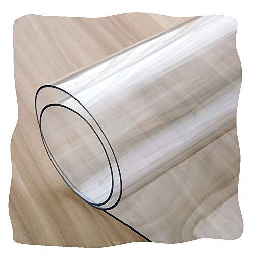 JIAJUAN Bodenschutzmatte Bürostuhl Transparent Schreibtischstuhl Matte 1,5 Mm Schutz Zum Teppichboden Böden Wohnzimmer Esszimmer Küche Wasserdicht Ölfleck (Color : 1.5mm, Size : 60x90cm)