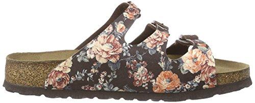 Papillio Florida Birko-flor, Mules femme Multicolore (rambling Rose Brown Soft)