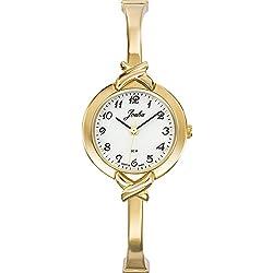 Joalia 631850-Ladies Watch-Analogue Quartz-White Dial-Golden Metal Strap