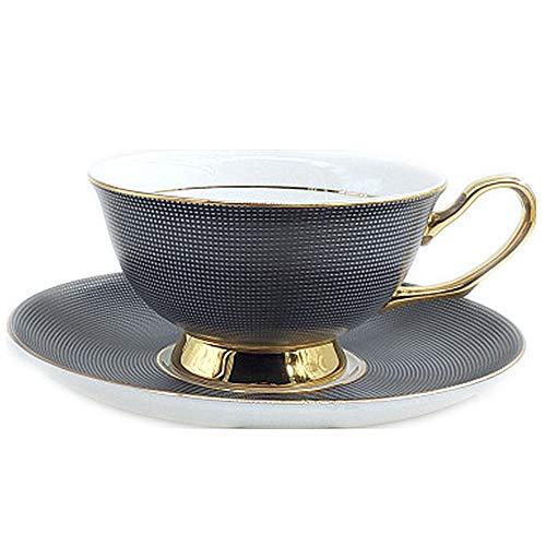 Tasse Hotel Mug Coffee-Shop männlich Bone China Kaffeetasse weiblich europäischen Stil Keramik Kaffeetasse eine Tasse Teller Kreative Keramik Kaffeetasse grau 200ml