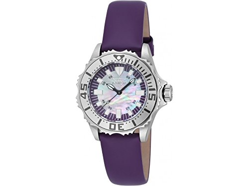 Invicta 18489 Ladies Pro Diver Violet Leather Strap Watch