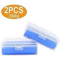 Nakeey 2 Stücke Reinigungsknete Auto, 180g Auto Reinigungsknete für Lackreinigungsknete,Reinigungsknete zur Lackpflege und Felgenreinigung Blau