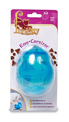 PetSafe Funkitty Egg-Cersizer Treat Toy, Interactive Food Dispenser, Activity Snack Ball for Cats of All Ages 2