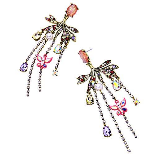 LMSHM Ohrringe Frauen Anweisung Ohrringe Personalisierte Glas Acryl Kronleuchter Große Ohrringe Party Schmuck