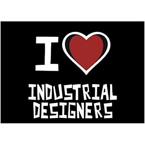 Teeburon I love Industrial Designer Sticker Pacchetto