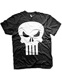 Officiellement Marchandises Sous Licence Marvel Comics The Punisher Skull 3XL,4XL,5XL Hommes T-Shirt (Noir)