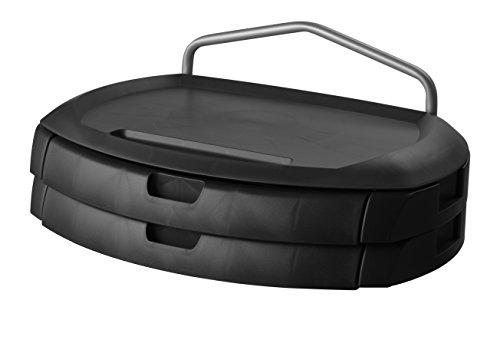 Kantek MAG19WL Vergrößerungsaufsatz Monitor Ständer mit zwei Schubladen, 18x 121/5,1x 12,7cm, schwarz (MS200B)