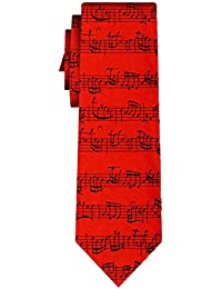 cravate bach notes red