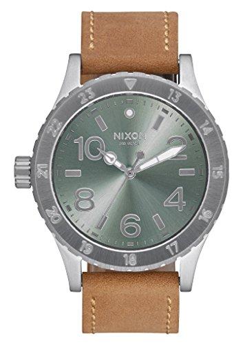 nixon-38-20-leather-color-saddle-sage-size-one-size