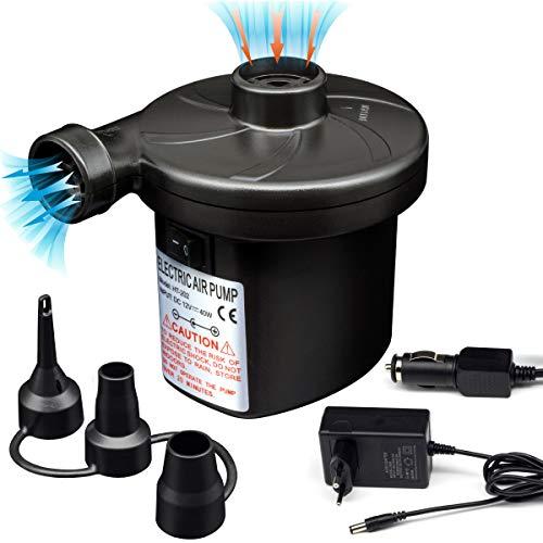 Semai Elektrische Luftpumpe Pumpe Multifunktion Elektropumpe mit 3 Luftdüse Kompressor für luftmatratze, Schlauchboote, Gästebetten, Aufblasbare Schwimmtiere Oder Camping-Automatisches (Größe 13 Pumps)
