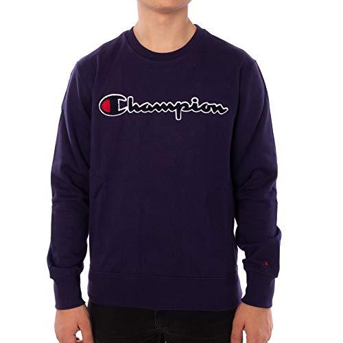 Champion Logo Sweater Sweatshirt (M, White) (Champion Pullover)