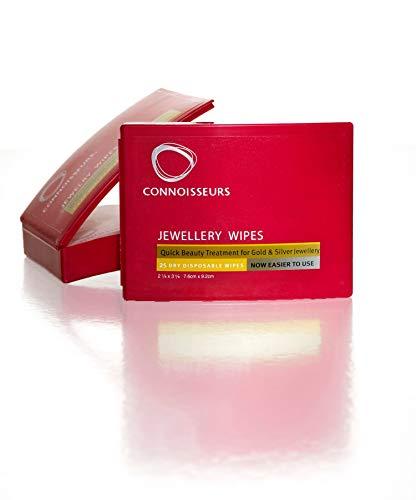 """CONNOISSEURS """"Jewelry Wipes"""", für Gold, Silber, Edelsteine und Modeschmuck, 25 Tücher in Spendebox"""