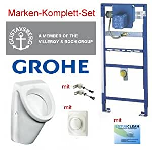 grohe vorwandelement urinal set gustavsberg design urinal baumarkt. Black Bedroom Furniture Sets. Home Design Ideas
