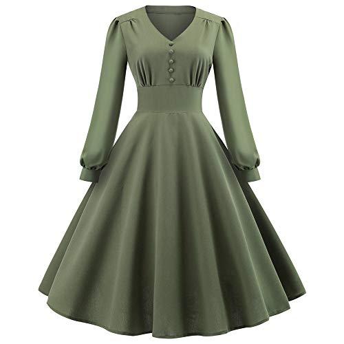 Bealeuy Frau Retro Kleid Spitzenkleid Frauen Ballkleid Verein Partykleid Mode Frauen V-Ausschnitt Farbblock drapiert Urlaubsparty Vintage Ballkleid Kleid