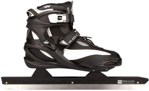 Nijdam Schlittschuhe Eisschnelllauf Softboot (46||schwarz-grau-silber)