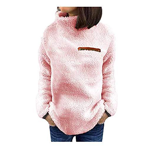 Dorical Winterpullover Damen Grau Herbst Winter Warm Armeegrün Grau Pink Rollkragenpullover Sweatshirt Hochwertige Hässliche Modische Pullover Kostüm für Frauen Günstige Kaufen Online ()