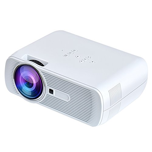 Yuntab BL80 HD 1080P LED Projecteur à 1200 Lumens Home Cinéma pour PC Portable/Smartphone pour ipad/iphone/Samsung/sony etc-Blanche