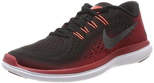 Nike Flex 2017 Rn, Men's Running, Multicolored (Black/Mtlc Hematite/Tough Red), 8 UK...