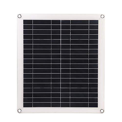 Decdeal Solarzelle Photovoltaik 25W 5V Tragbarer Doppelter USB Anschluss Flexibles Hocheffizientes Sunpower Polycrystalline Solar Panel Power Kit