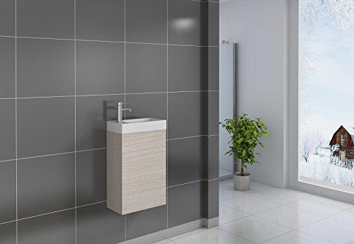 SAM® Kleiner Badezimmer Waschplatz, Badmöbel In Holzoptik Sonomaeiche,  Oberfläche Matt, Kleines Gästebad