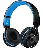 Darkiron Bluetooth drahtloser Kopfhörer mit eingebautem Mirkrofon, TF Karte, FM Radio und mitgelieferte Audio-Kabel, kompatibel mit meisten Bluetooth-Geräte, Handys, Laptop, TV usw (Blau)