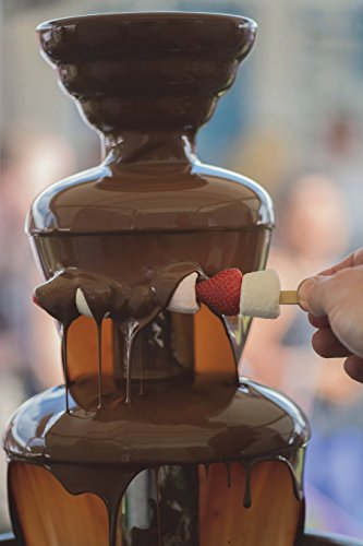 Delicious Chocolate Fondue Fountain on a Table Journal: 150 page lined notebook/diary