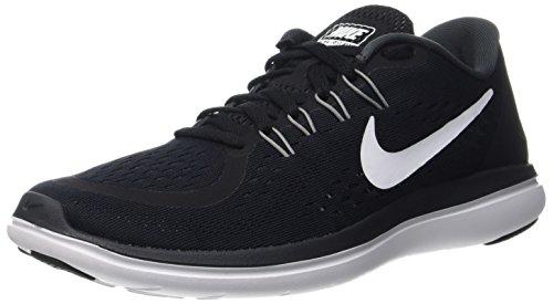 Nike Herren Flex 2017 RN Laufschuhe, Schwarz (Black/White-Anthracite-Cool Grey), 40.5 EU