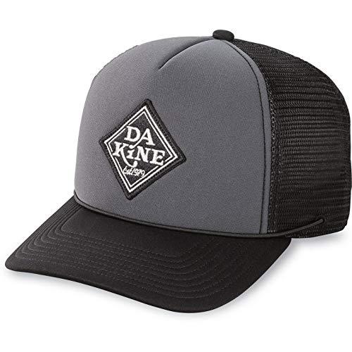 DAKINE Lock Down Trucker - Kappe Schwarz Charcoal - Schnell Dry - Schnell Dry Polyester Schaumrücken von Trucker - justierbares snap zurück -